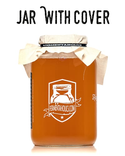 Gallon Kombucha Jar With Muslin Cover