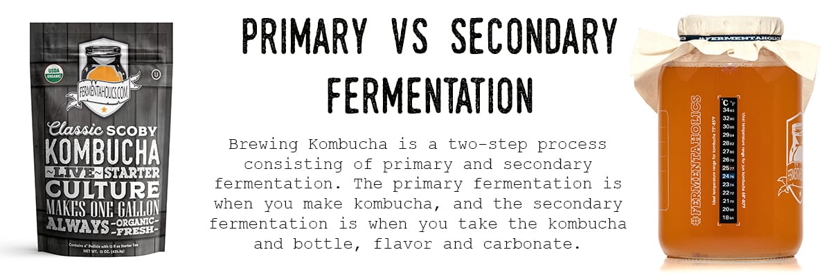 Brewing Kombucha is a Two Step Process: Primary and Secondary Fermentation