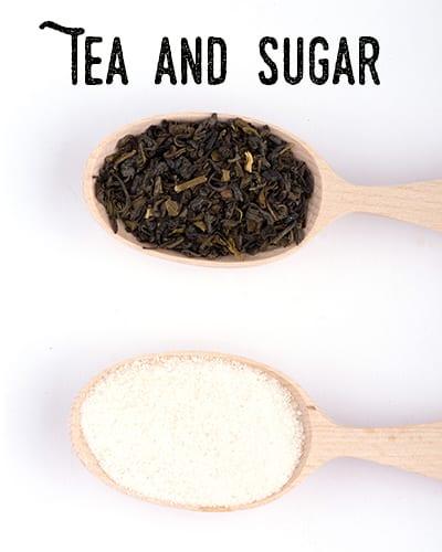 Brewing Kombucha Tea and Cane Sugar