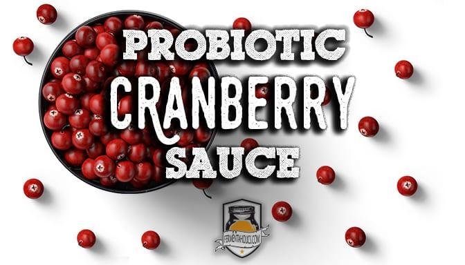 Probiotic cranberry sauce recipe