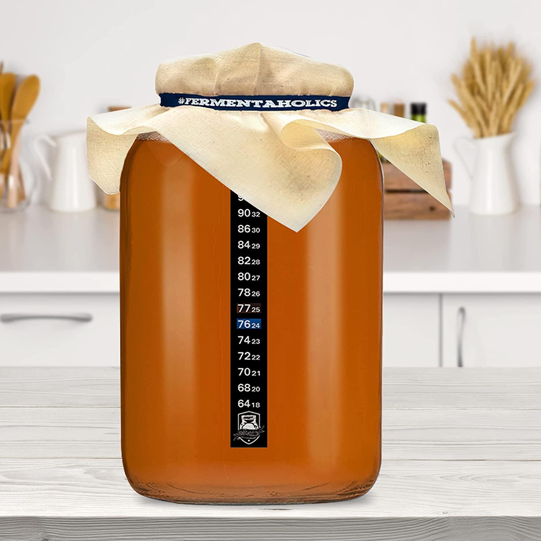 plain gallon kombucha glass jar