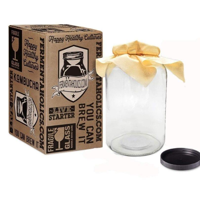 Kombucha brewing gallon glass jar fermenter