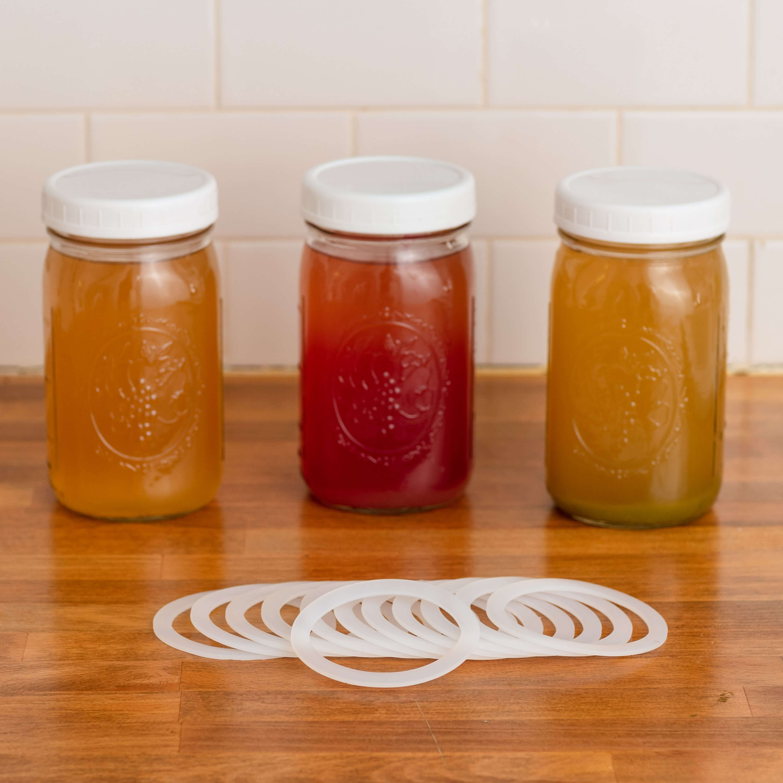 air tight plastic wide mouth mason jar lids 4 pack fermentaholics. Black Bedroom Furniture Sets. Home Design Ideas