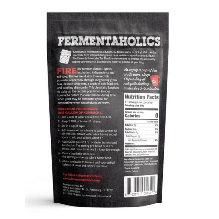 Fermentaholics Organic Kombucha Fire Loose Leaf Tea Blend