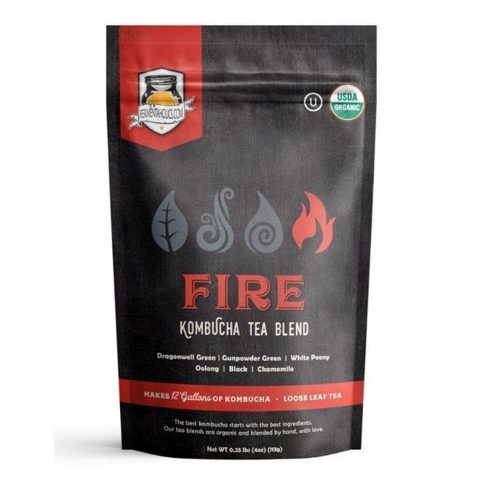 Fermentaholics Organic Kombucha Fire Loose Leaf Tea Blends