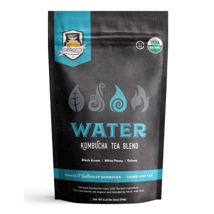 Fermentaholics Organic Kombucha Water Loose Leaf Herbal Tea Blend