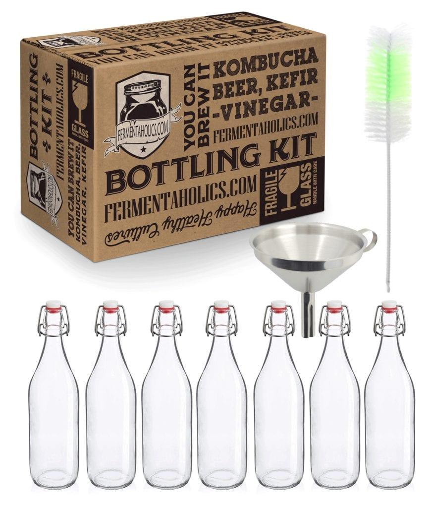 Glass Kombucha Swing Cap Bottles for Secondary Fermentation