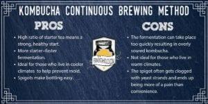 Continuous Brew Kombucha - Fermentaholics