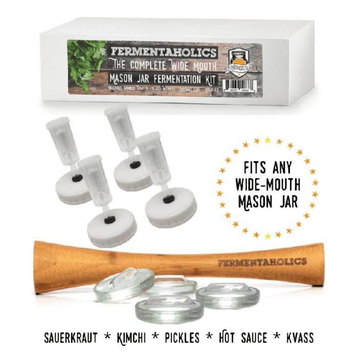 Wide Mouth Mason Jar Fermentation Kit
