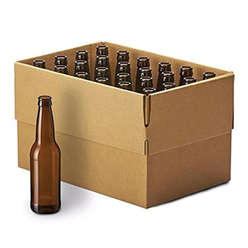Case of 24 - 12 oz Brown Beer Bottles