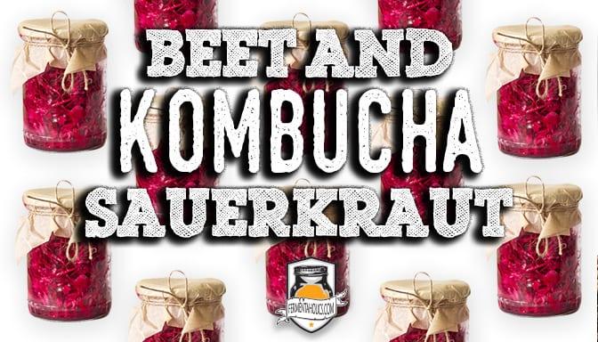 beet and kombucha sauerkraut