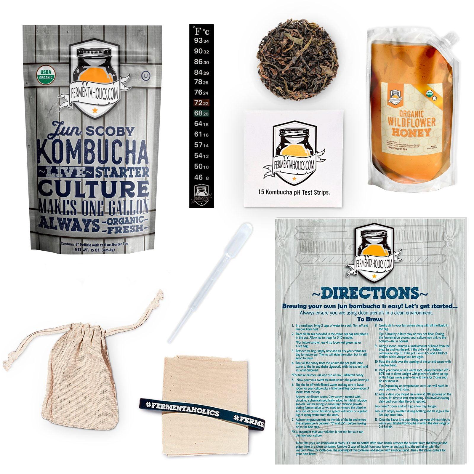 one gallon jun kombucha starter kit