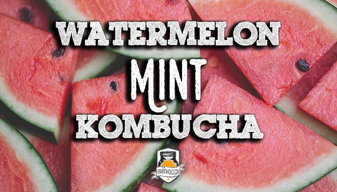 watermelon mint kombucha