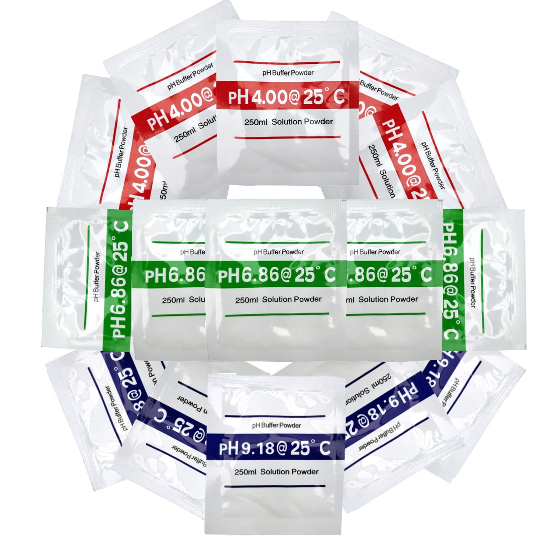pH Testing powder packets all ranges Digital meter