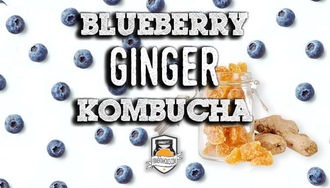 Blueberry Candied Ginger Kombucha