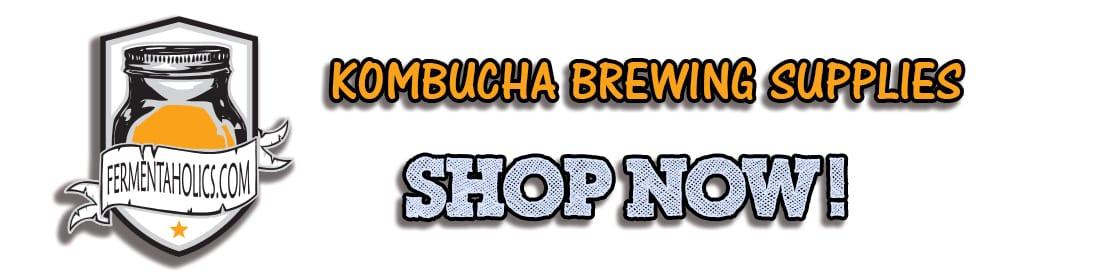 Banner - Kombucha Brewing Supplies Shop Now