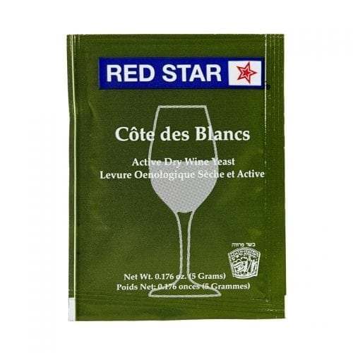 Cote Des Blancs red star premier dry wine yeast