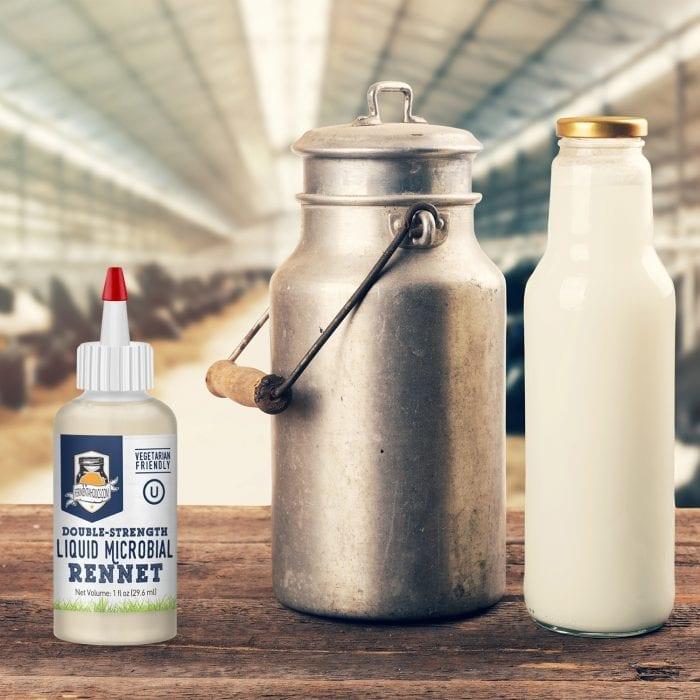 milk with rennet