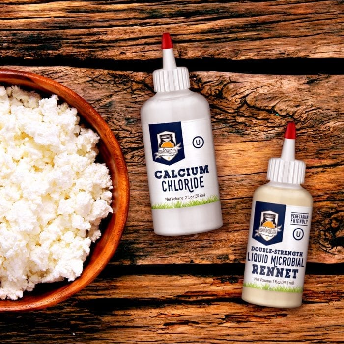 rennet and calcium chloride