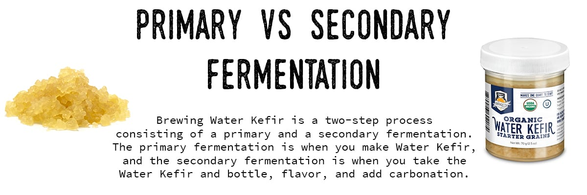 water kefir primary and secondary fermentation