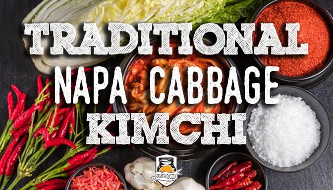 DIY traditional napa cabbage kimchi
