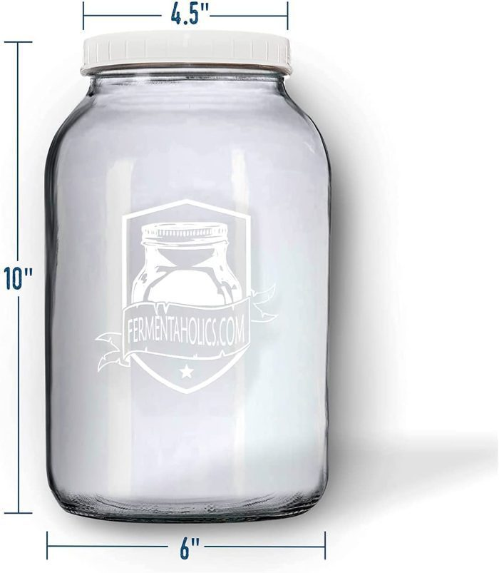 Printed Kombucha Jar 2 Pack measurments