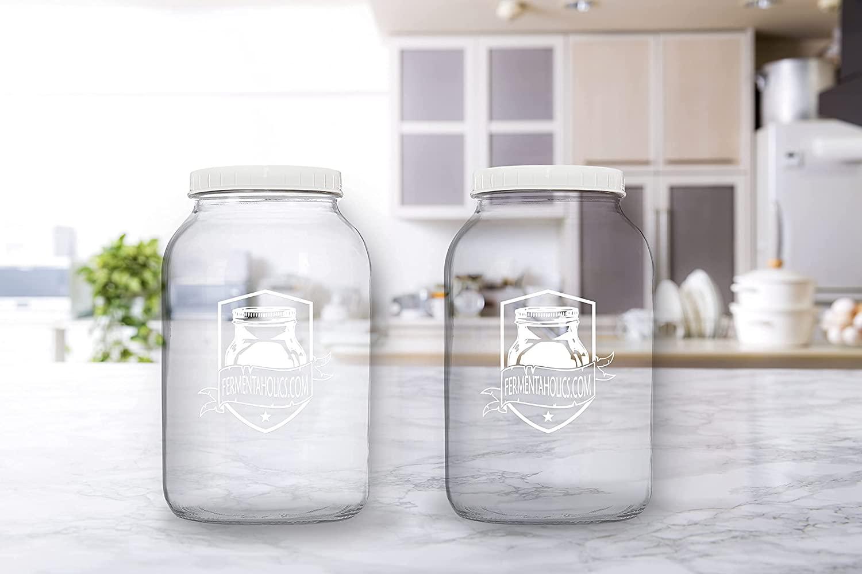 Printed Kombucha Jar 2 Pack