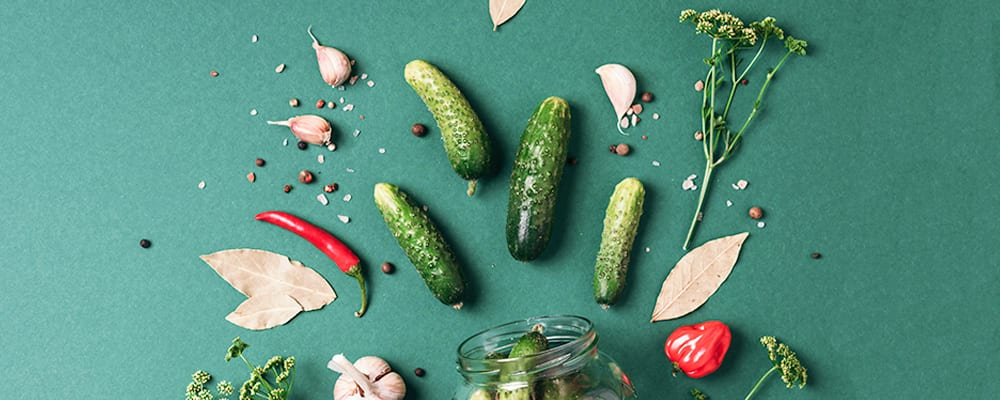 Making pickles at home