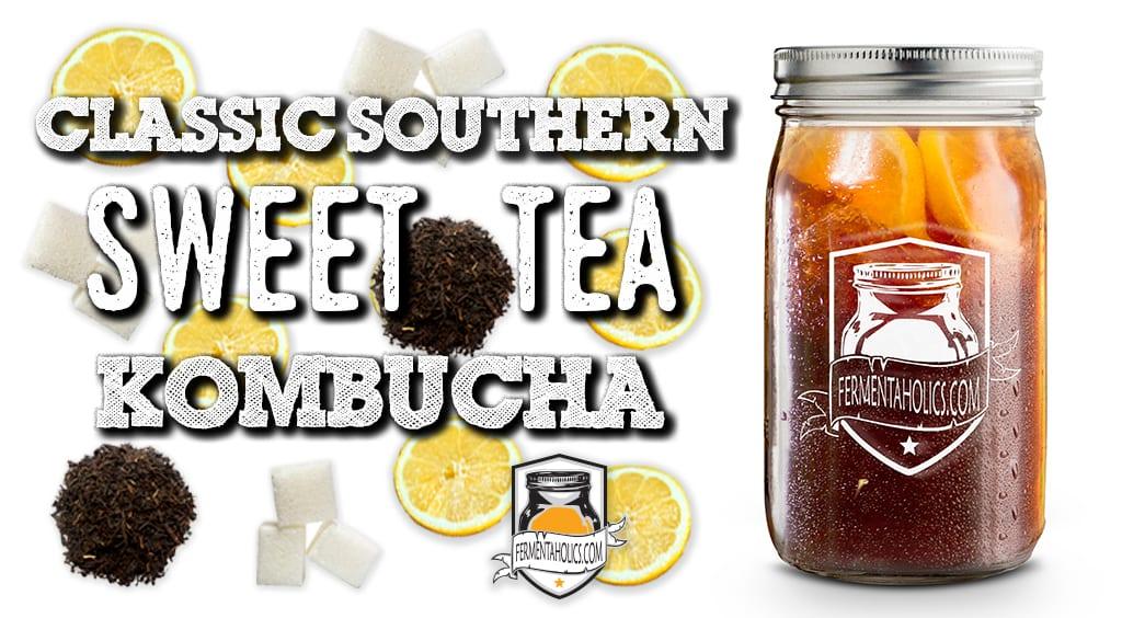 How to Brew sweet tea kombucha