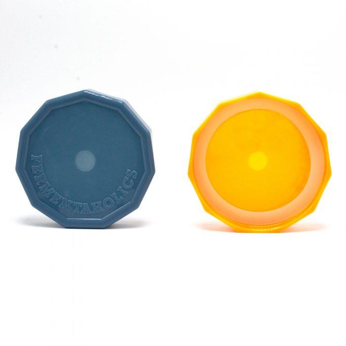 Front and back of mason jar lids