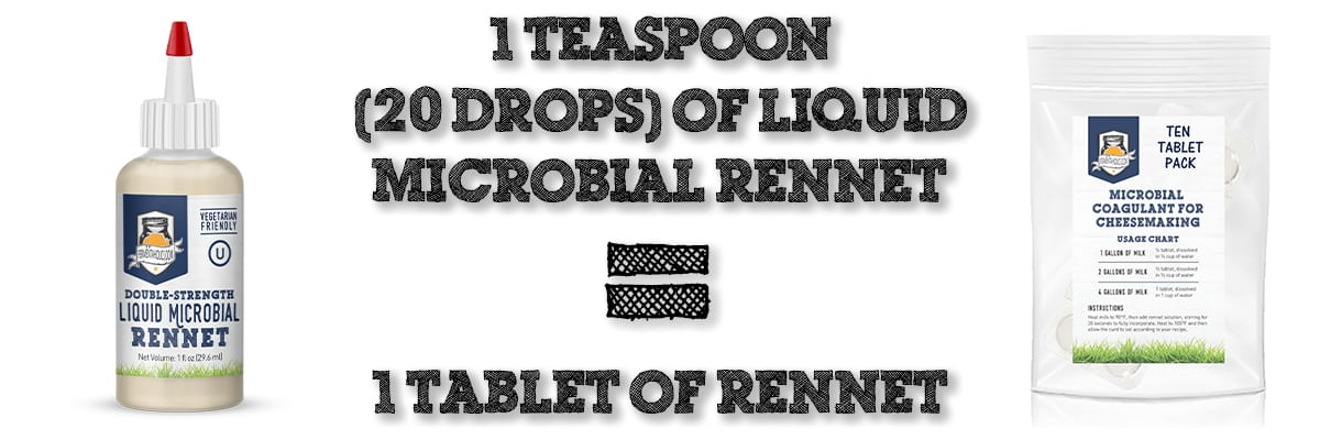 liquid rennet v tablets