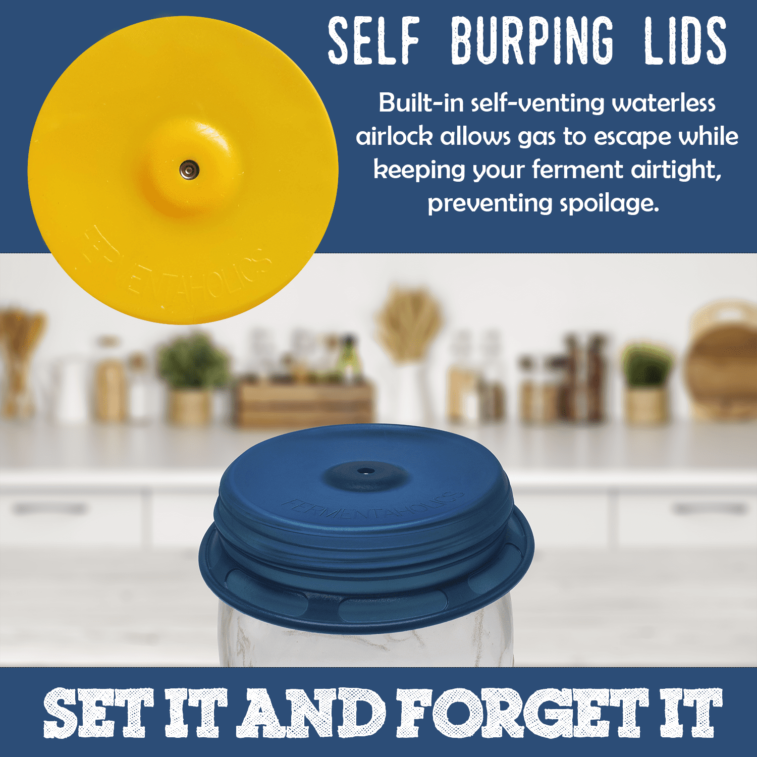 how to use fermentation lid